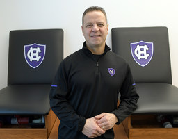 2026525 bytes; 2000 x 1563; WORCESTER - Anthony Cerundolo is an athletic trainer at College of the Holy Cross Wednesday, January